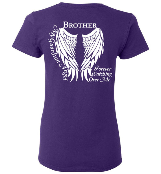 Brother Guardian Angel Forever Watching Over Me - Ladies T-Shirt