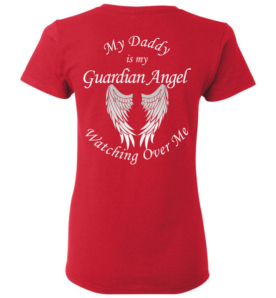 My Daddy is my Guardian Angel Ladies Memorial T-Shirt