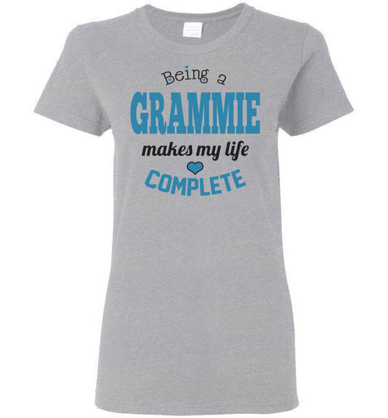 Being a Grammie Makes My Life Complete Ladies T-Shirt