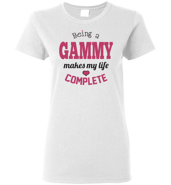 Being a Gammy Makes My Life Complete Ladies Tee