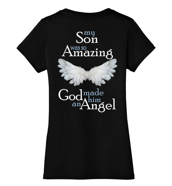 Son Amazing Angel V-Neck Ladies District Made Perfect Weight V-Neck Tee
