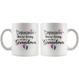 Congratulations You're Going To Be A Grandma Coffee Mug - Grandma To Be Gift