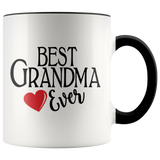Best Grandma Ever 11 oz Accent Coffee Mug