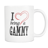 I Love being a Gammy White 11oz Coffee Mug