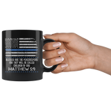 Matthew 5:9 Blessed Are The Peacekeepers - 11 oz Black Coffee Mug