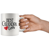 Best Grandpa Ever 11 oz White Coffee Mug