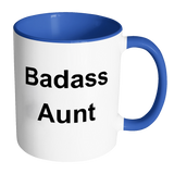 Badass Aunt Accent Coffee Mug Gift From Niece Or Nephew