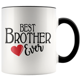 Best Brother Ever 11 oz Accent Coffee Mug