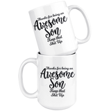 Awesome Son 15 oz White Coffee Mug - Funny Gift for Son