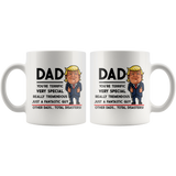 Trump Mug for Dad - Dad You're Terrific - 11 oz White Coffee Mug