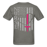 Nurse Flag Gildan Ultra Cotton Adult T-Shirt (CK1213) - charcoal