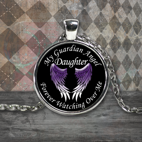 Daughter Guardian Angel Necklace