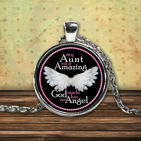 My Aunt Angel Necklace - Pink