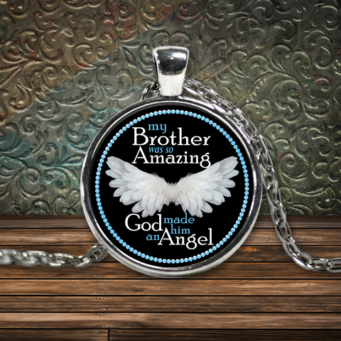 My Brother Amazing Angel Pendant - Blue