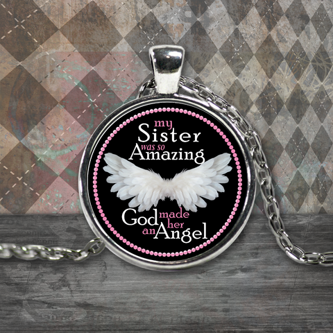 My Sister Amazing Angel Necklace