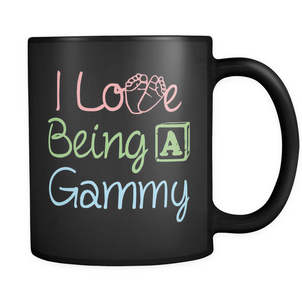 I Love being a Gammy Black 11oz Coffee Mug
