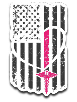 Nurse Flag Decal
