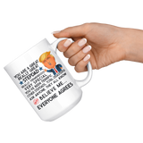 FUNNY TRUMP MUG FOR STEPDAD 15 OZ WHITE COFFEE MUG