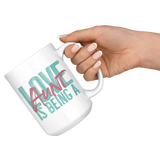 Love is being a Aunt 15 oz White Coffee Mug