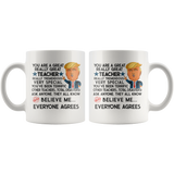 Funny Trump Teacher 11 oz Coffee Mug