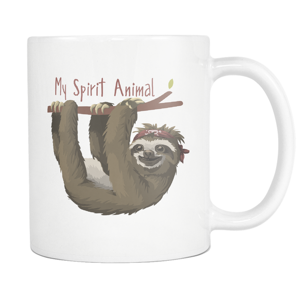 Sloth My Spirit Animal - Cute Sloth Coffee Mug