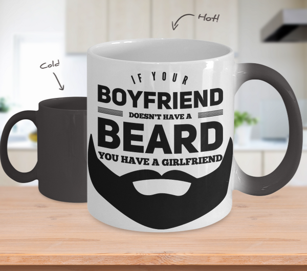 Boyfriend Beard Color Changing Mug