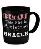 This Girl is Protected by Her Beagle Mug