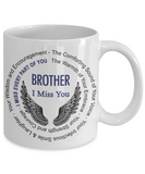 Brother Memorial Gift Coffee Mug With Angel Wings