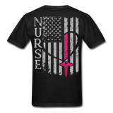 Nurse Flag Gildan Ultra Cotton Adult T-Shirt (CK1213) - black