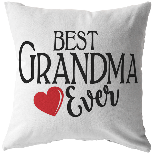 Best Grandma Ever Throw Pillow
