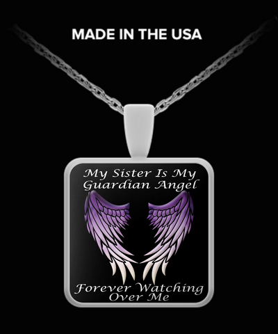 Sister Guardian Angel Necklace