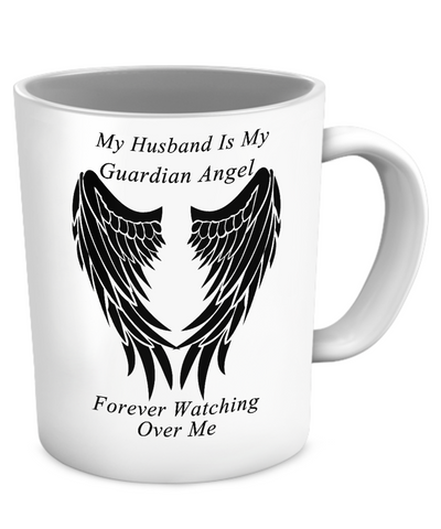 Husband Guardian Angel Mug