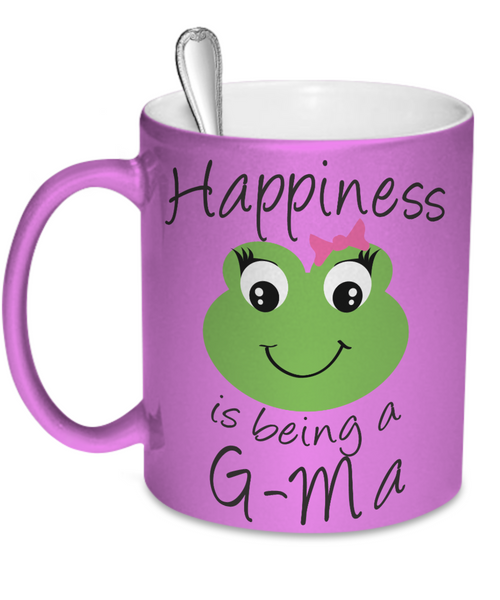 Happiness is being a G-Ma Mug Metallic