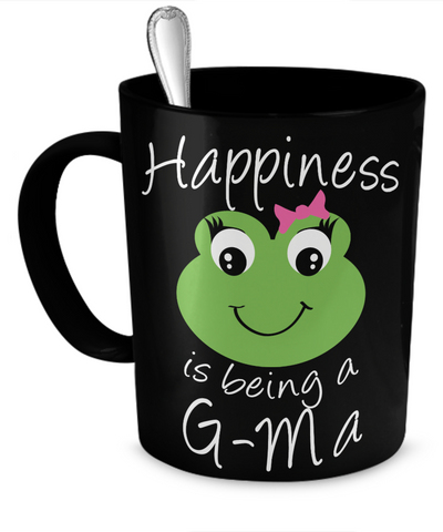 Happiness is being a G-Ma - Mug Black