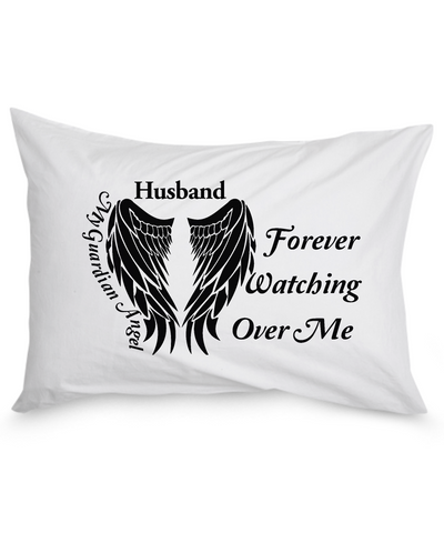 Husband Guardian Angel Pillow Case