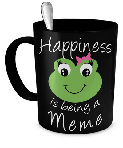 Happiness is being a Meme - Mug Black
