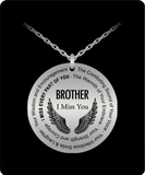 Brother Memorial Gift Necklace Angel Wings