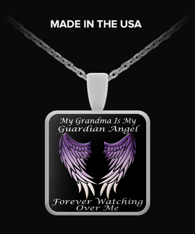 Grandma Guardian Angel Necklace