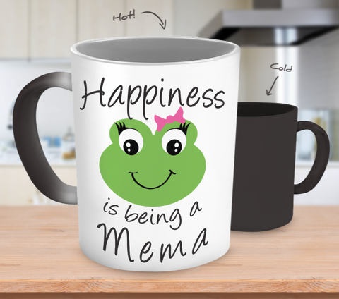 Happiness is being a Mema - Mug Color Changing