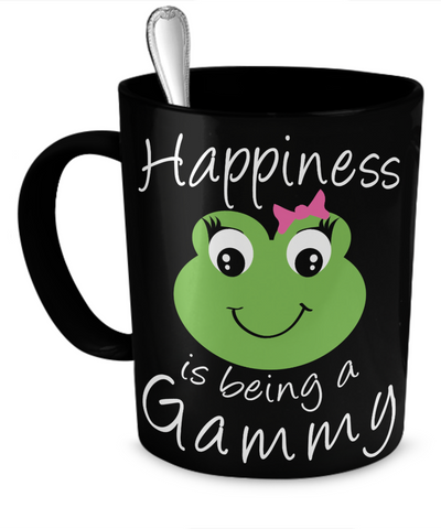 Happiness is being a Gammy - Mug Black