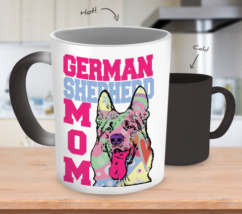 German Shepherd Mom Color Changing Mug