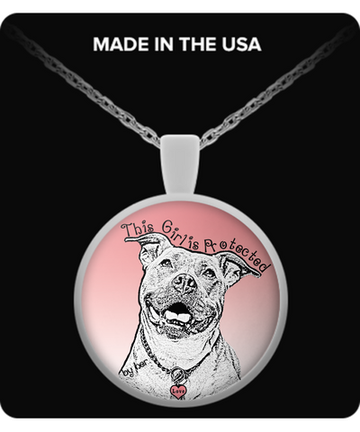 Protected By Pitbull Necklace