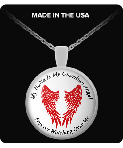 NaNa Guardian Angel Round Pendant