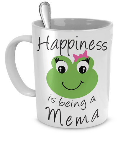 Happiness is being a Mema - Mug White
