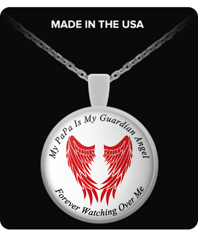 PaPa Guardian Angel Round Pendant