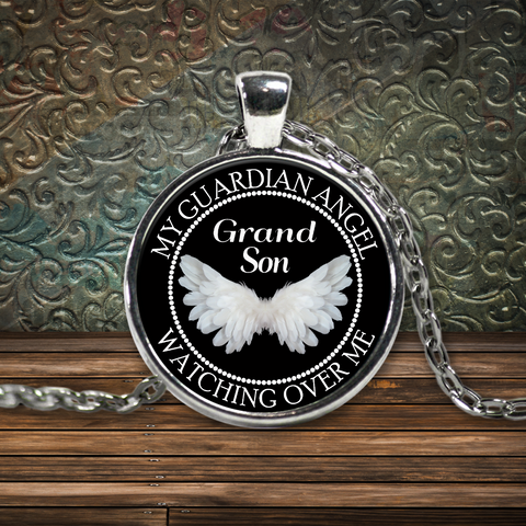 Grand Son Guardian Angel Necklace