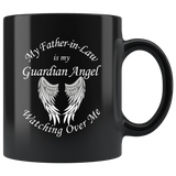 Father in Law 11 oz Black Coffee Mug
