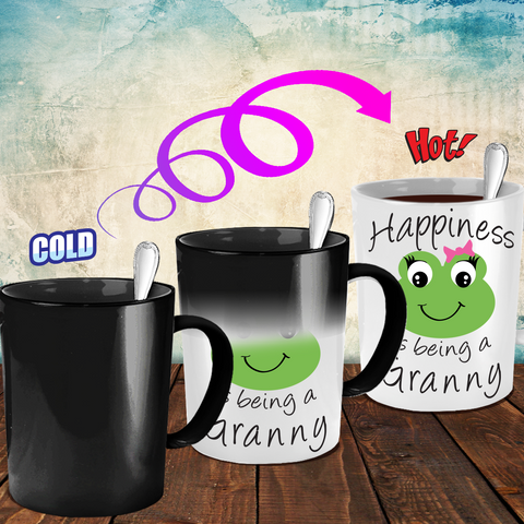 Happiness is being a Granny - Mug Color Changing