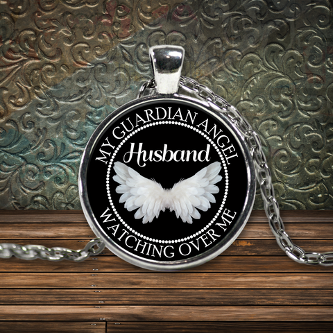 Husband Guardian Angel Necklace