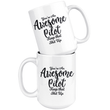 Awesome Pilot 15 oz White Coffee Mug